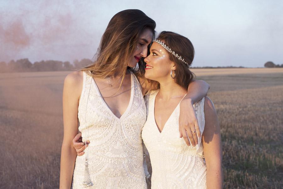 Same sex wedding styling boho chic festival inspiration - image credit Emma Hall Photography (38)
