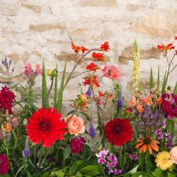 Glorious wedding inspo bursting with colour and details at Kelston Old Barn