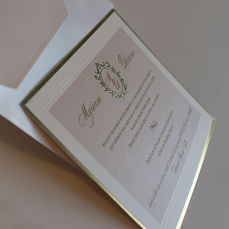 Elegant wedding invitations UK design Polina Perri (1)