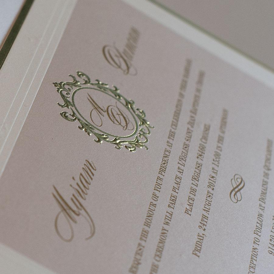 Elegant wedding invitations UK design Polina Perri (3)