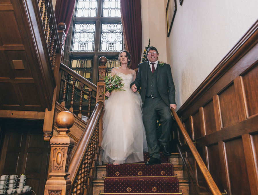 A gorgeous snowy wedding at Higher Trapp Country House Hotel with Rachel Joyce Photography (10)