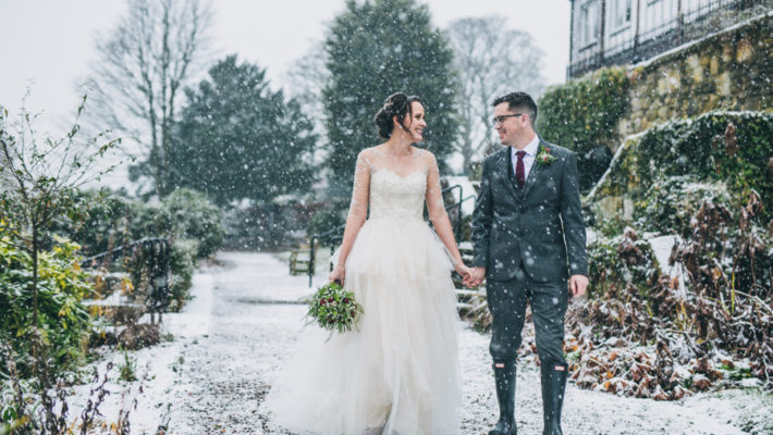A gorgeous snowy wedding at Higher Trapp Country House Hotel with Rachel Joyce Photography (17)