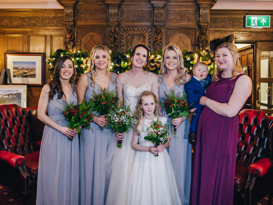 A gorgeous snowy wedding at Higher Trapp Country House Hotel with Rachel Joyce Photography (25)