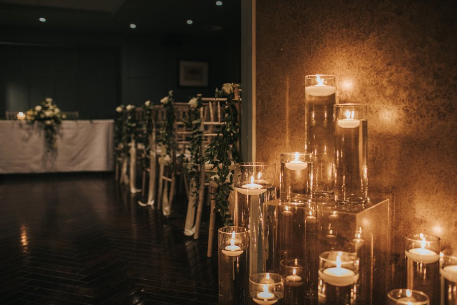 Gorgeous candlelit wedding ceremony on English Wedding blog, image credit Sarah Millington Photography (22)