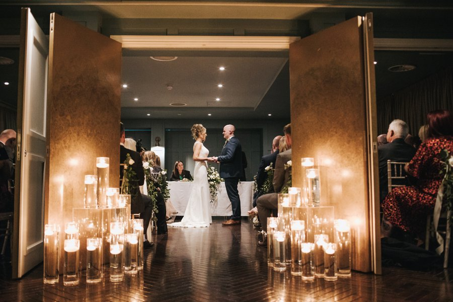 Gorgeous candlelit wedding ceremony on English Wedding blog, image credit Sarah Millington Photography (24)