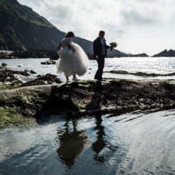 Dan & Michelle's beach front summer wedding at Tunnels Beaches, Ilfracombe, with Robin Goodlad Photography