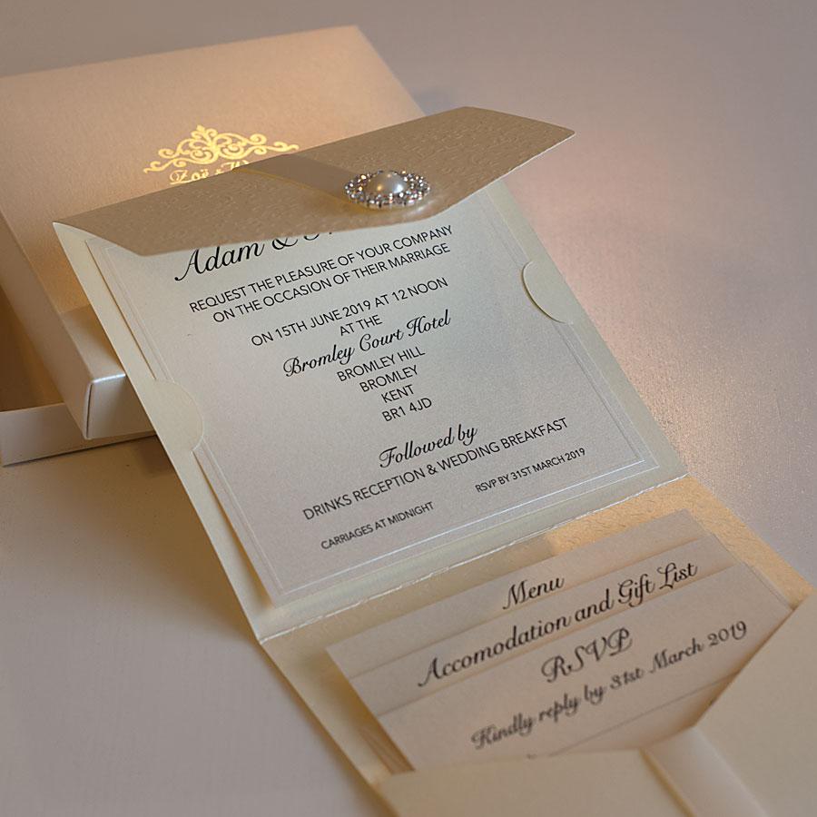Elegant wedding invitations UK design Polina Perri (4)