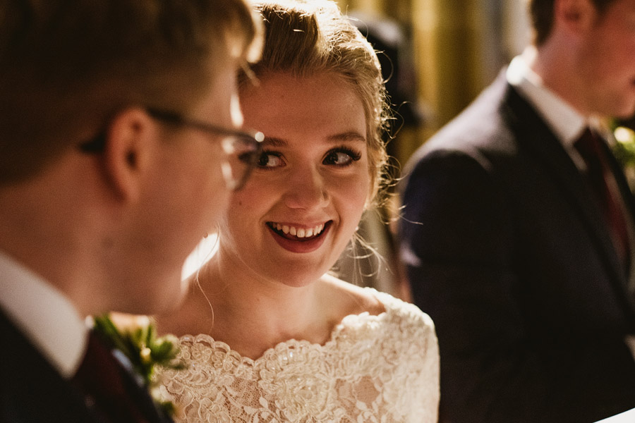 Beautiful photography of a December wedding in candlelight at the Star Inn Harome, photos by York Place Studios (14)