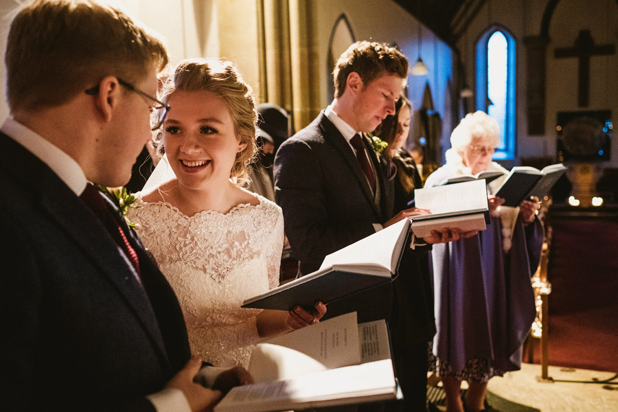 Beautiful photography of a December wedding in candlelight at the Star Inn Harome, photos by York Place Studios (16)
