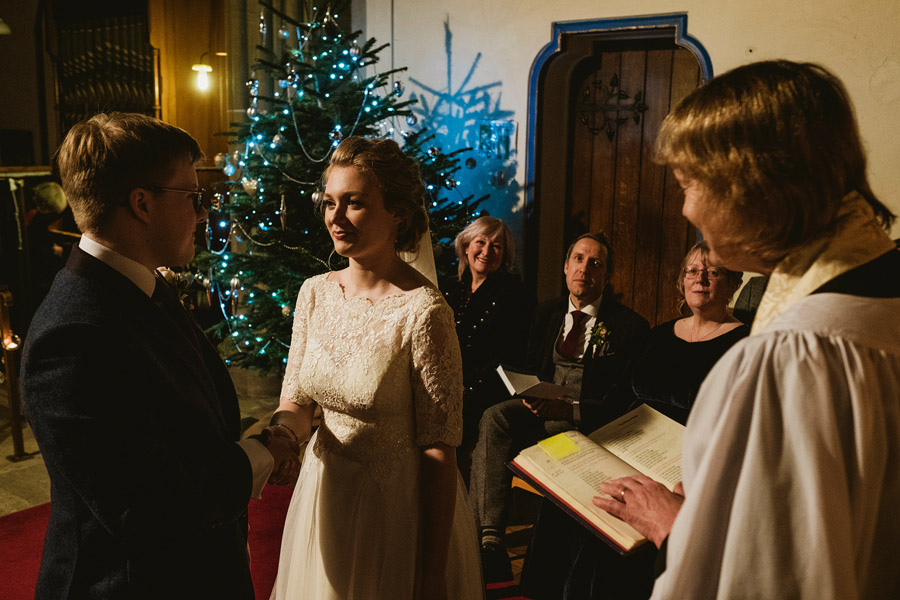 Beautiful photography of a December wedding in candlelight at the Star Inn Harome, photos by York Place Studios (17)