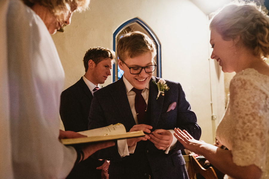 Beautiful photography of a December wedding in candlelight at the Star Inn Harome, photos by York Place Studios (18)