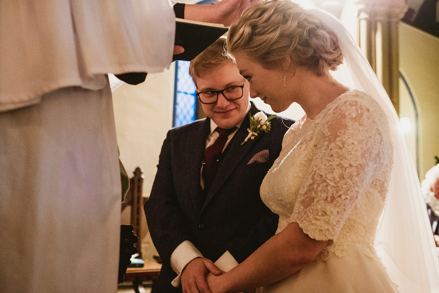 Beautiful photography of a December wedding in candlelight at the Star Inn Harome, photos by York Place Studios (20)