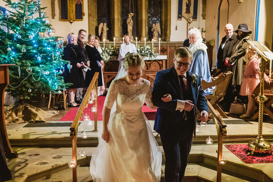 Beautiful photography of a December wedding in candlelight at the Star Inn Harome, photos by York Place Studios (21)