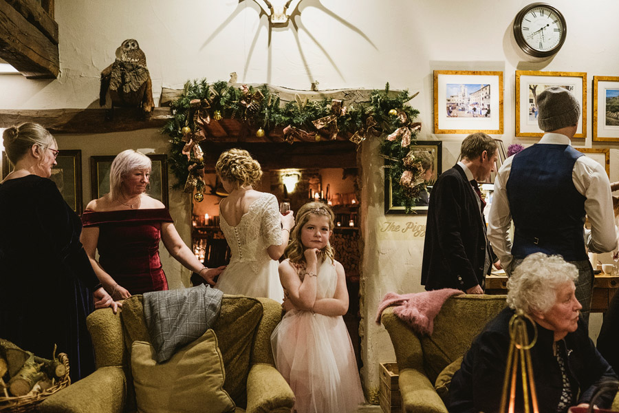 Beautiful photography of a December wedding in candlelight at the Star Inn Harome, photos by York Place Studios (26)