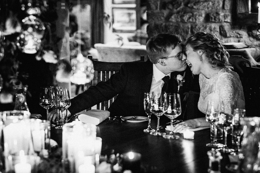 Beautiful photography of a December wedding in candlelight at the Star Inn Harome, photos by York Place Studios (29)