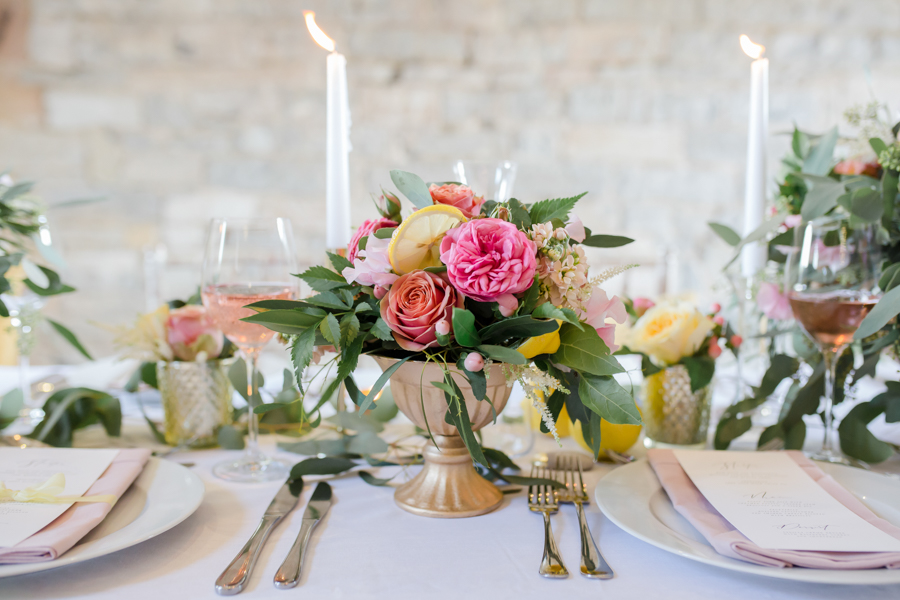Vibrant florals, lemons and beautiful calligraphy for a summer wedding with Ellie Lou Photography (13)