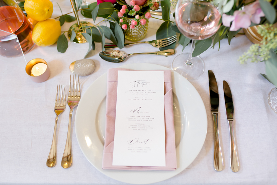 Vibrant florals, lemons and beautiful calligraphy for a summer wedding with Ellie Lou Photography (17)