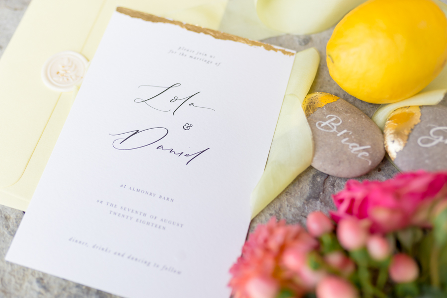 Vibrant florals, lemons and beautiful calligraphy for a summer wedding with Ellie Lou Photography (6)