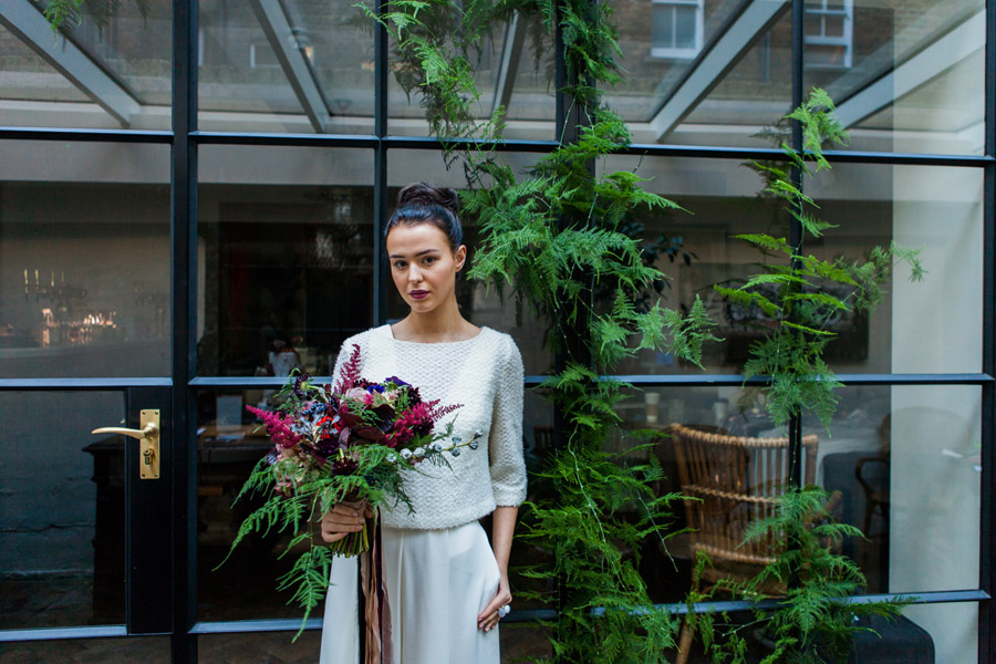 Moody Nordic wedding style ideas created in London, with images by Amanda Karen Photography (11)
