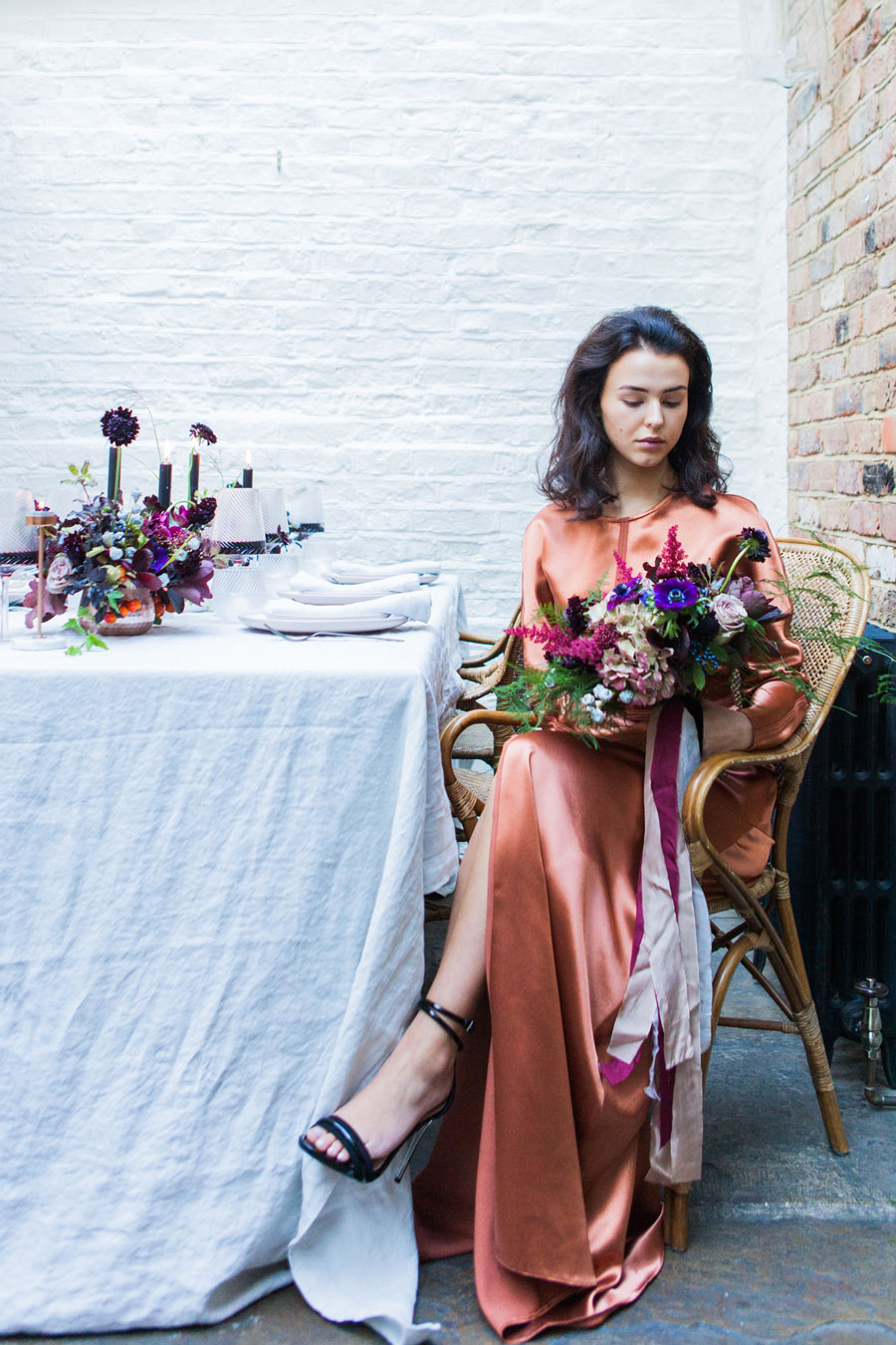 Moody Nordic wedding style ideas created in London, with images by Amanda Karen Photography (36)