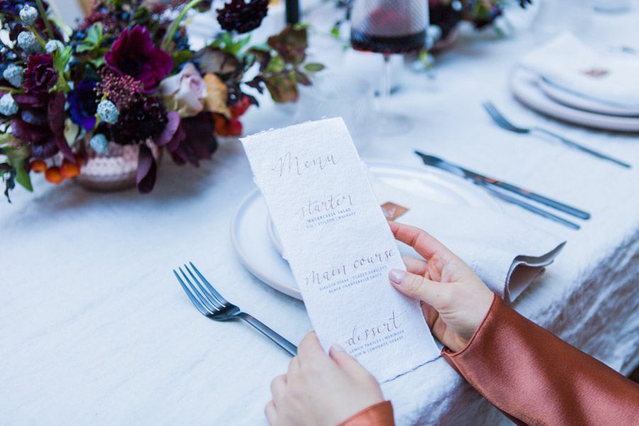 Moody Nordic wedding style ideas created in London, with images by Amanda Karen Photography (33)