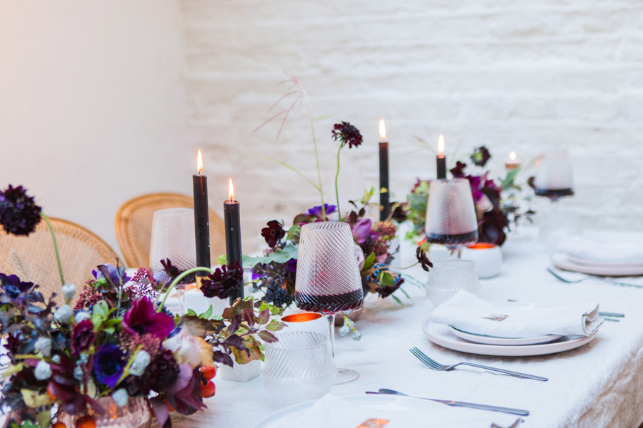 Moody Nordic wedding style ideas created in London, with images by Amanda Karen Photography (31)