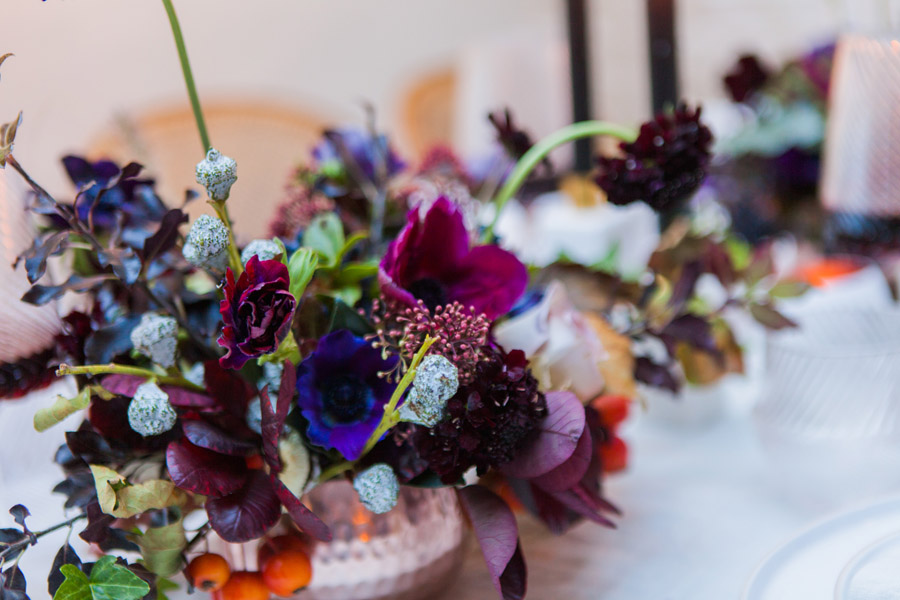 Moody Nordic wedding style ideas created in London, with images by Amanda Karen Photography (41)