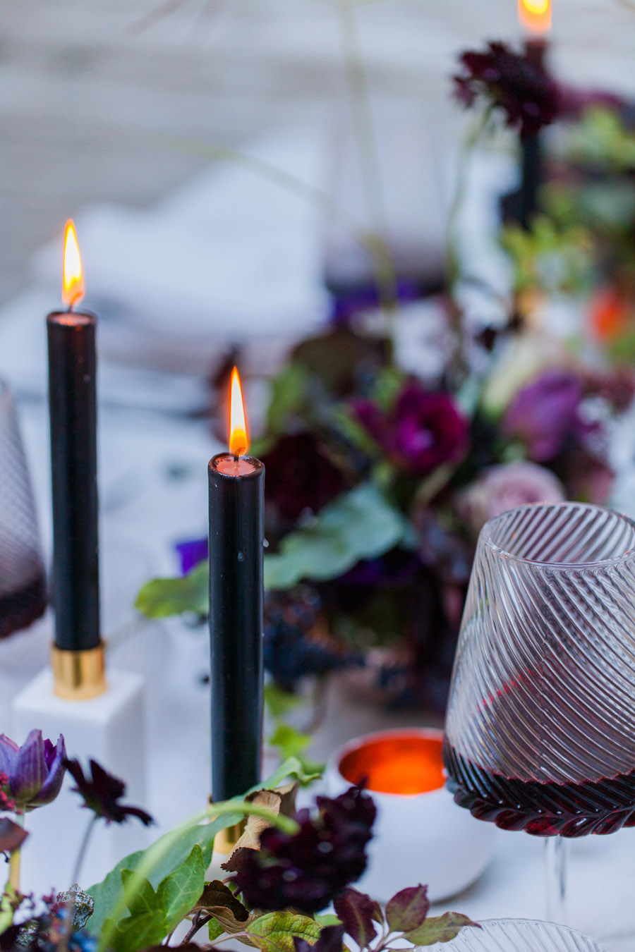 Moody Nordic wedding style ideas created in London, with images by Amanda Karen Photography (30)
