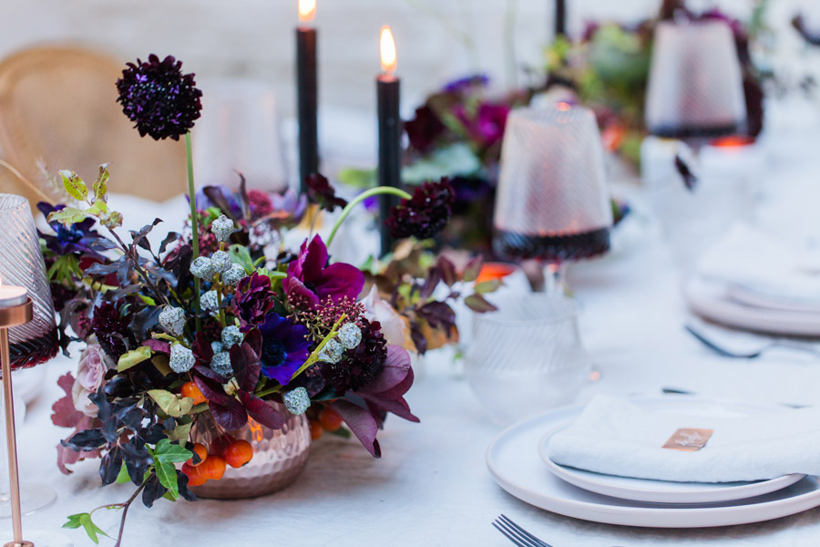 Moody Nordic wedding style ideas created in London, with images by Amanda Karen Photography (29)