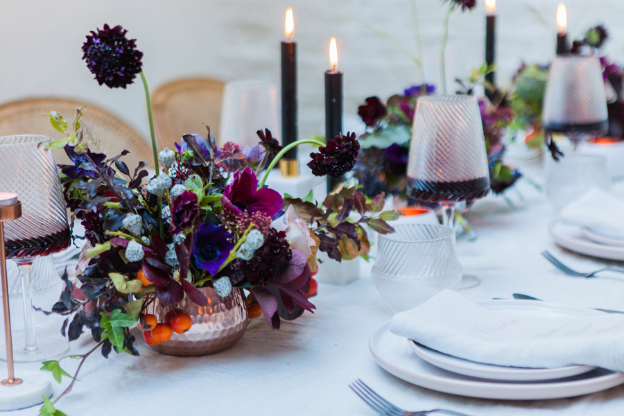 Moody Nordic wedding style ideas created in London, with images by Amanda Karen Photography (26)