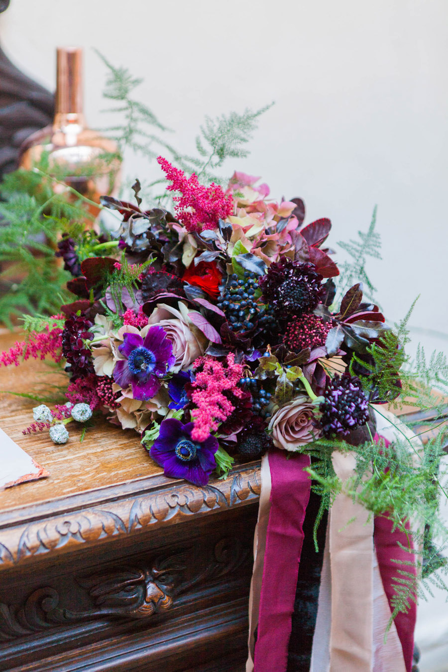 Moody Nordic wedding style ideas created in London, with images by Amanda Karen Photography (22)