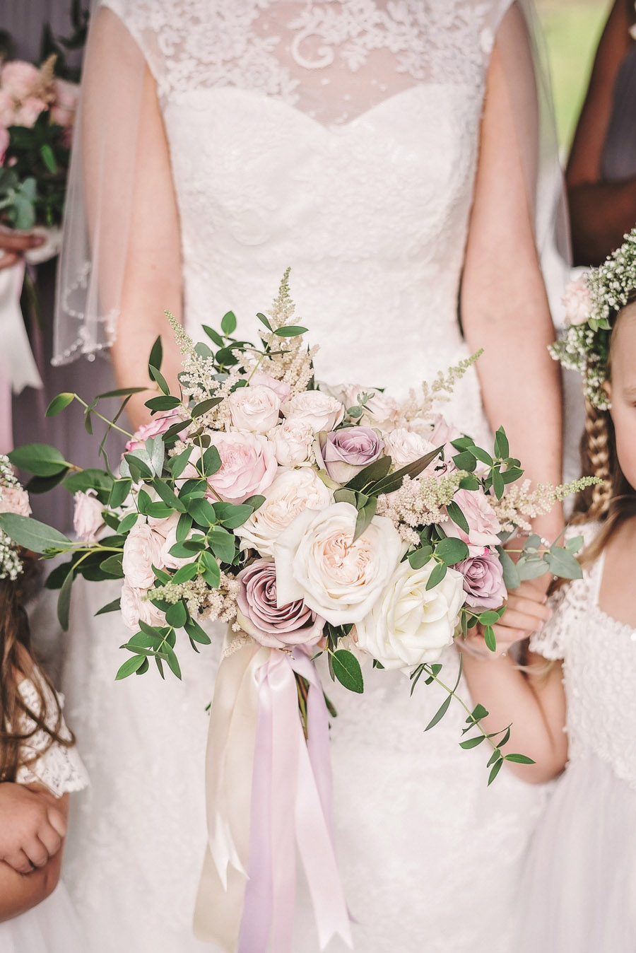 Eversholt Hall wedding with feminine floral styling, image credit Matthew Bishop Photography (17)