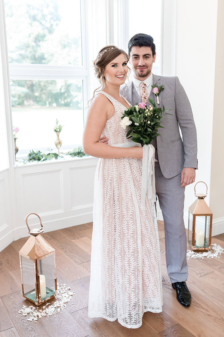 Neutral organic and minimal wedding style ideas from Kingsdown Rectory. Styling Your Wedding Your Way Images Kate Hennessey Photography (14)