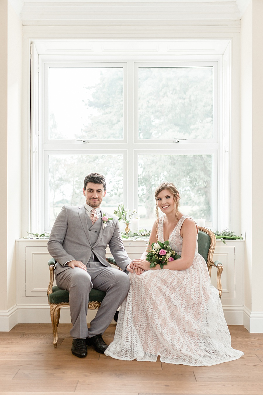 Neutral organic and minimal wedding style ideas from Kingsdown Rectory. Styling Your Wedding Your Way Images Kate Hennessey Photography (34)