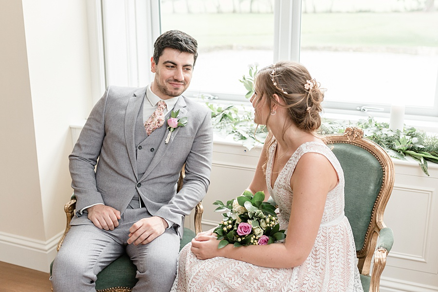 Neutral organic and minimal wedding style ideas from Kingsdown Rectory. Styling Your Wedding Your Way Images Kate Hennessey Photography (35)