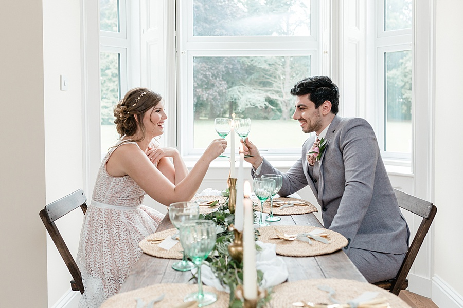 Neutral organic and minimal wedding style ideas from Kingsdown Rectory. Styling Your Wedding Your Way Images Kate Hennessey Photography (38)