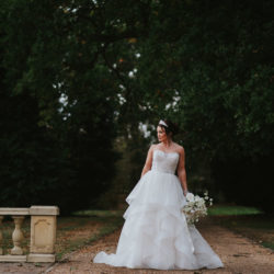 White and gold wedding styling ideas from Hothorpe Hall, Leicestershire
