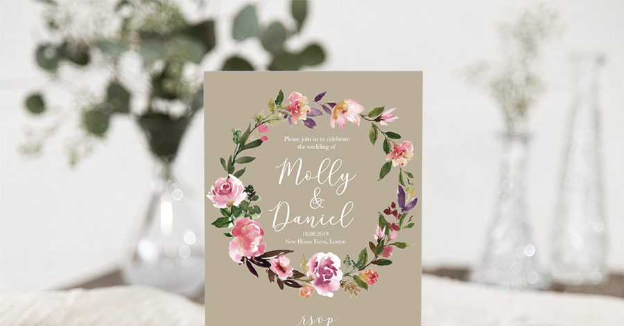 boho floral wedding invitations on english wedding