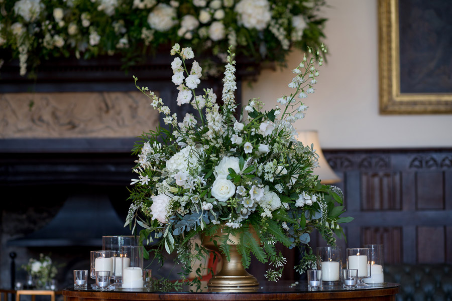 Gorgeous white and green styling for a Brympton House wedding with Martin Dabek Photography (5)