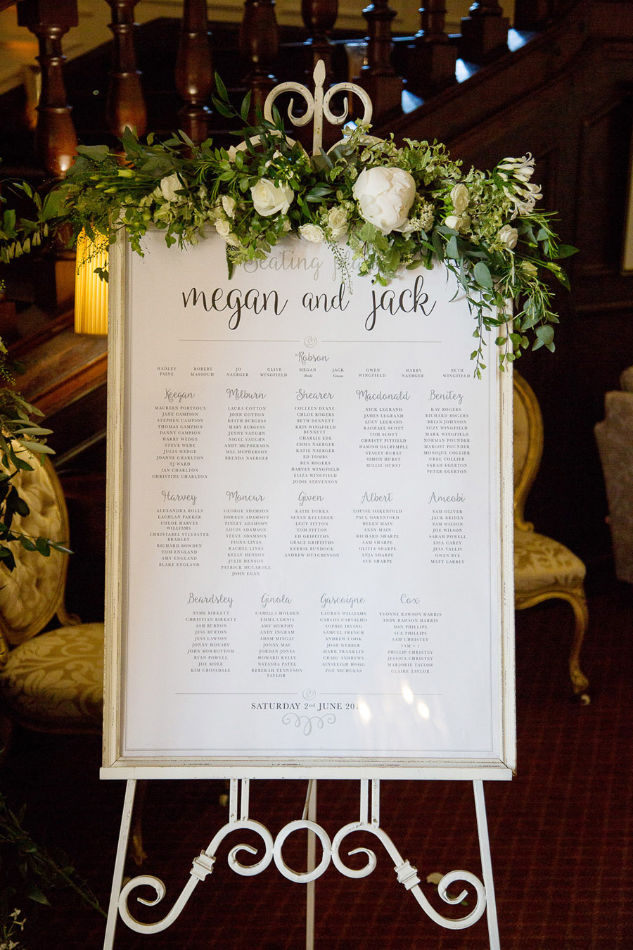 Gorgeous white and green styling for a Brympton House wedding with Martin Dabek Photography (16)