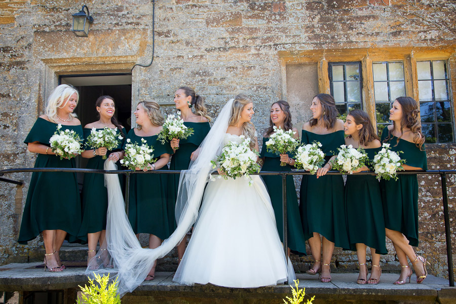 Gorgeous white and green styling for a Brympton House wedding with Martin Dabek Photography (13)