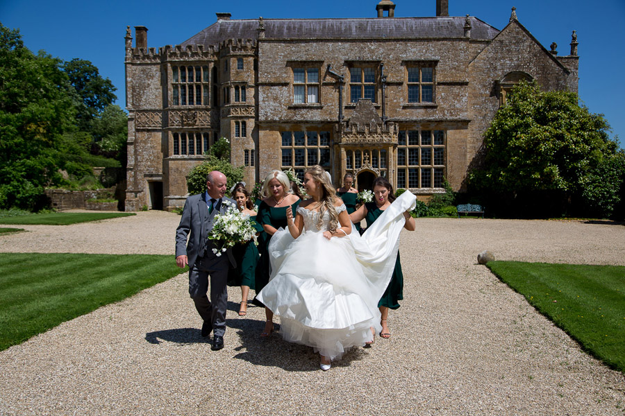 Gorgeous white and green styling for a Brympton House wedding with Martin Dabek Photography (9)