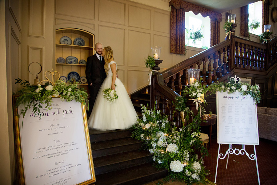 Gorgeous white and green styling for a Brympton House wedding with Martin Dabek Photography (25)