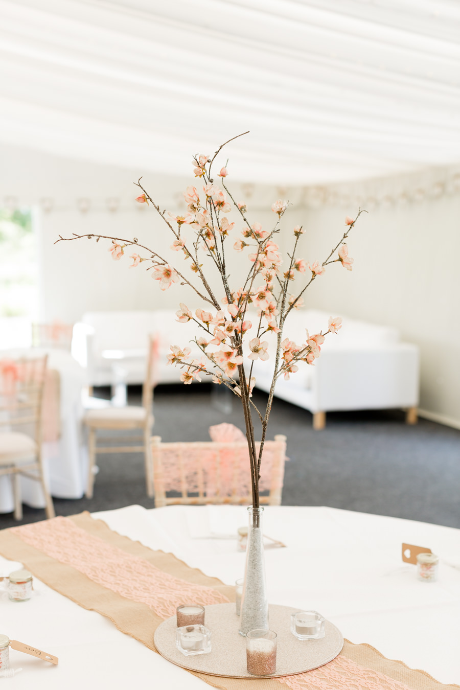 Elegant styling and sparkly tables for a pretty Chippenham Park wedding, images by Heather Jackson Photography (38)