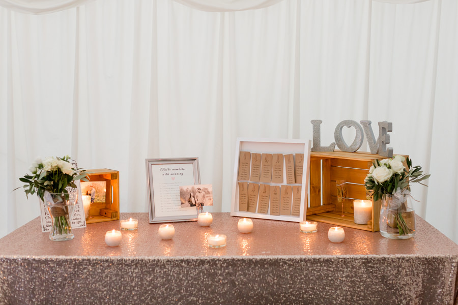 Elegant styling and sparkly tables for a pretty Chippenham Park wedding, images by Heather Jackson Photography (3)