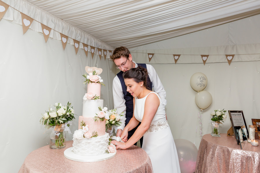 Elegant styling and sparkly tables for a pretty Chippenham Park wedding, images by Heather Jackson Photography (2)