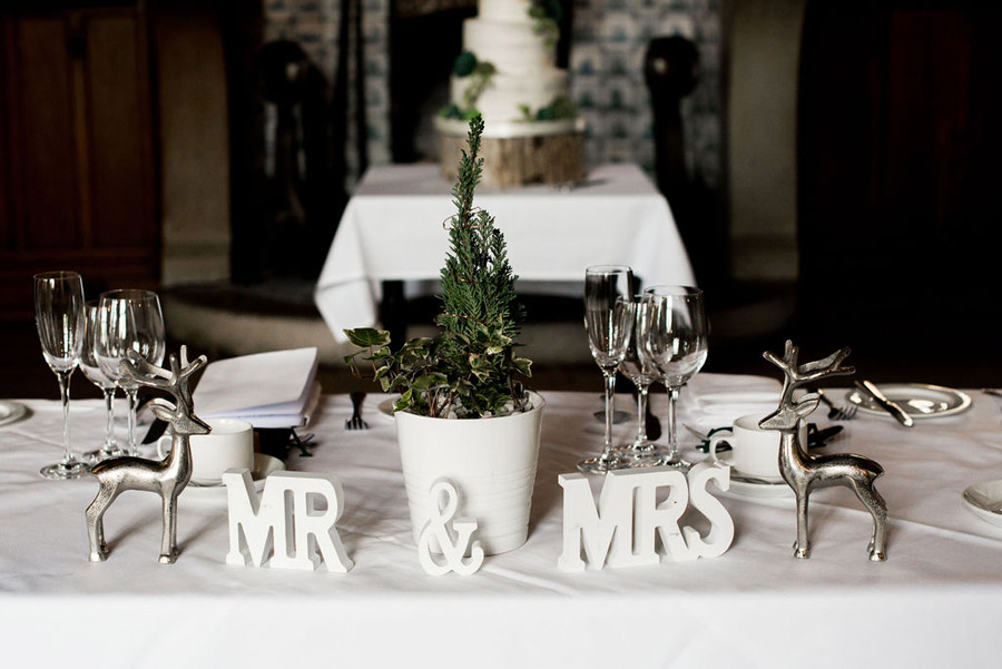 Beautiful festive wedding styling with greenery, image by Nicola Norton Photography (4)