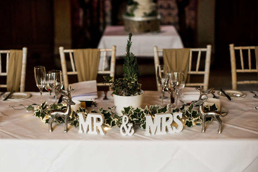 Beautiful festive wedding styling with greenery, image by Nicola Norton Photography (21)