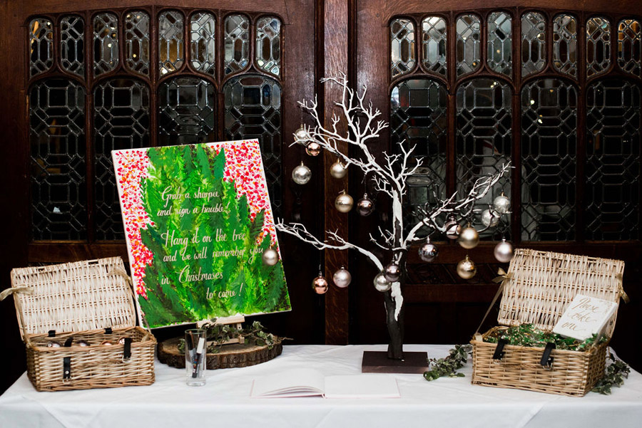 Beautiful festive wedding styling with greenery, image by Nicola Norton Photography (28)