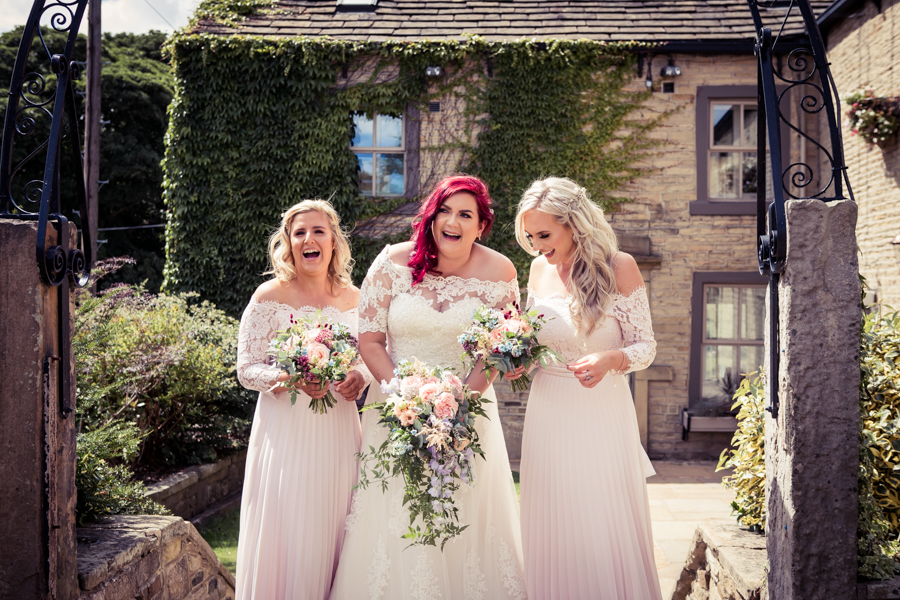 Gorgeous mixed summer florals for a romantic countryside wedding near Huddersfield, with Photography by Kathryn (33)